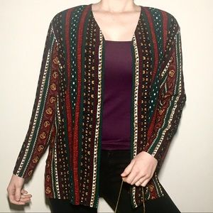 Sweaters - Visions Vintage Autumn 🍂 Patterned Cardigan 🌻